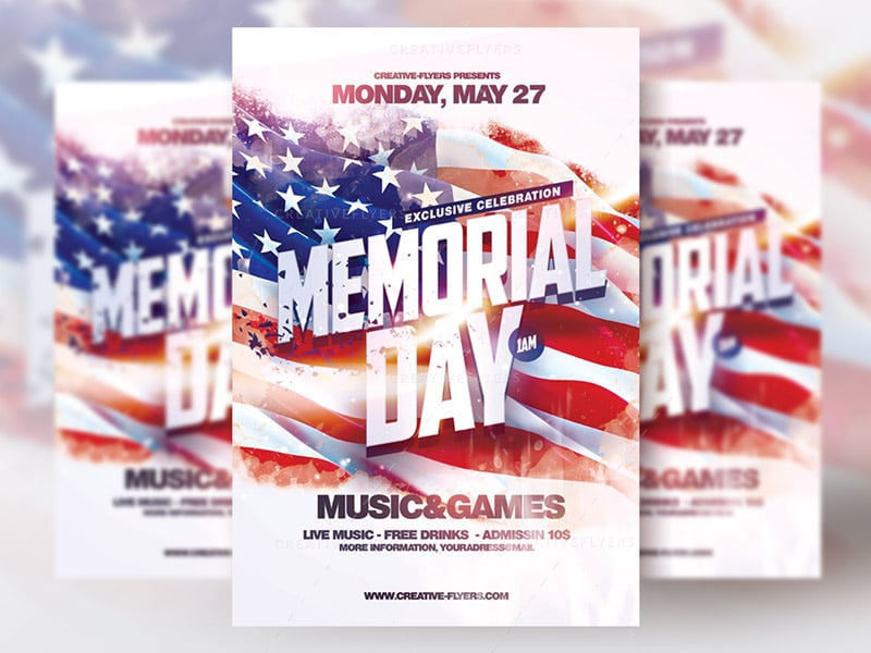 Memorial day flyer psd