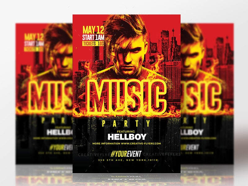 Music Party Flyer Psd