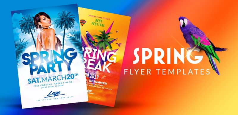 Spring Party flyer templates