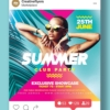 Summer Club Party Flyer photoshop