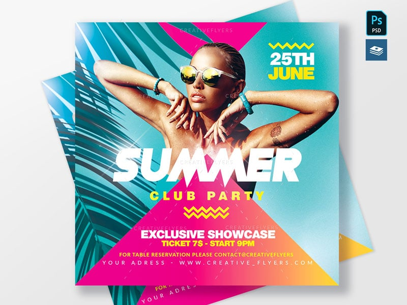 Summer Flyer psd