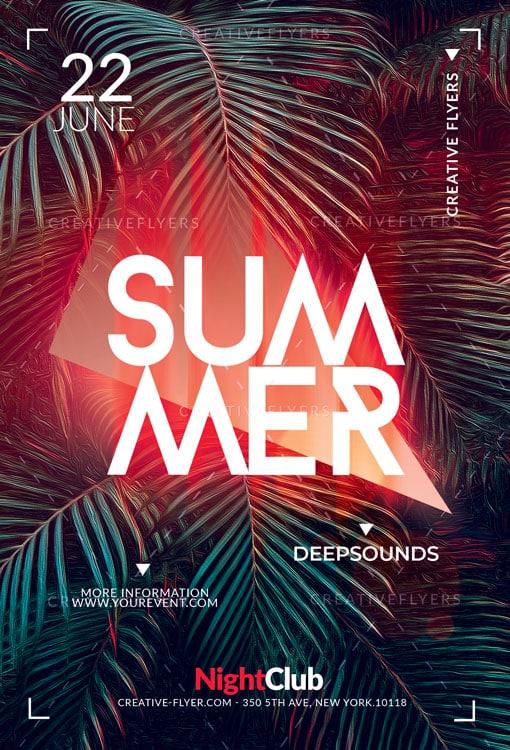 Creative Summer Poster Photoshop