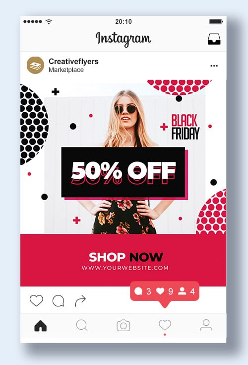 Black Friday instagram Graphic