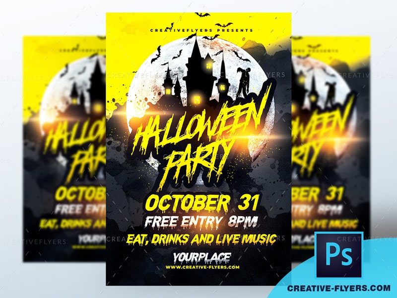 Flyer for Halloween party