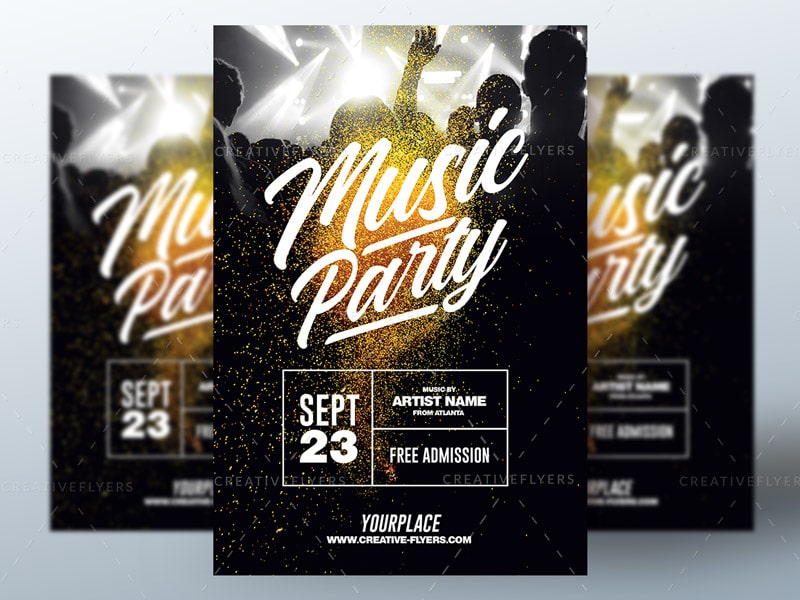 Nightclub Music Party Flyer