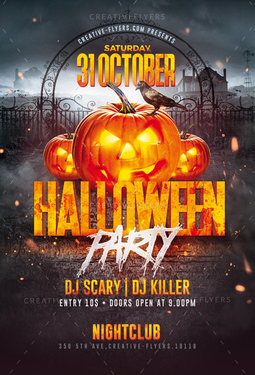 download halloween party flyer