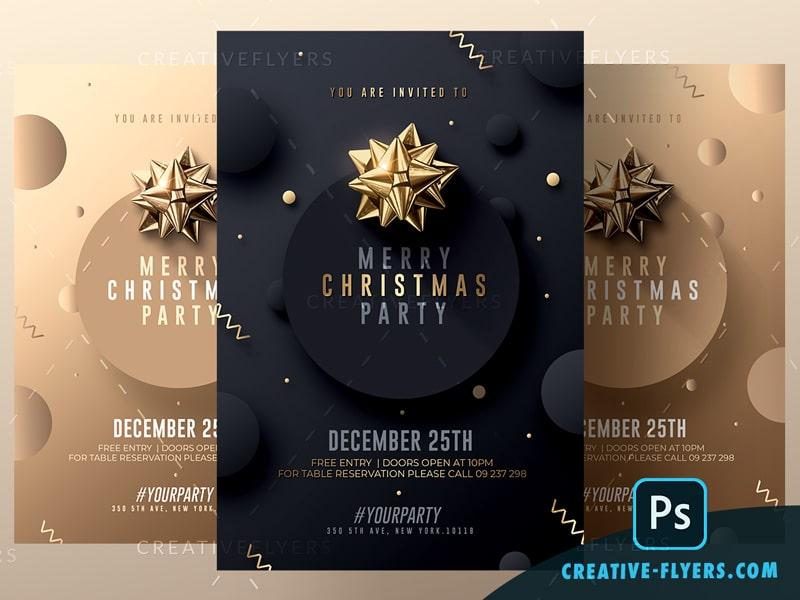 Classy Christmas Psd Invitations