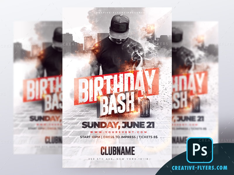 Hip Hop Birthday Flyer Template