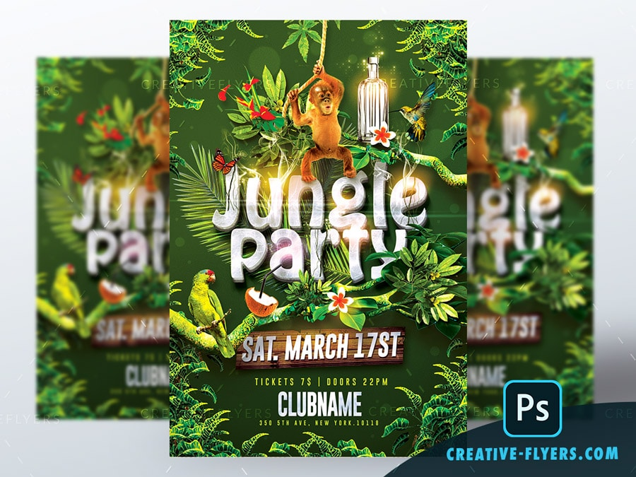 Jungle Party Flyer Templater