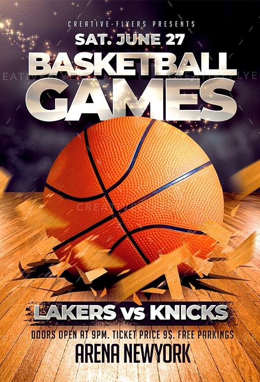 Basketball Games Flyer Template