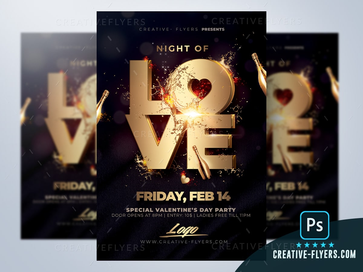 Night of Love Party Flyer