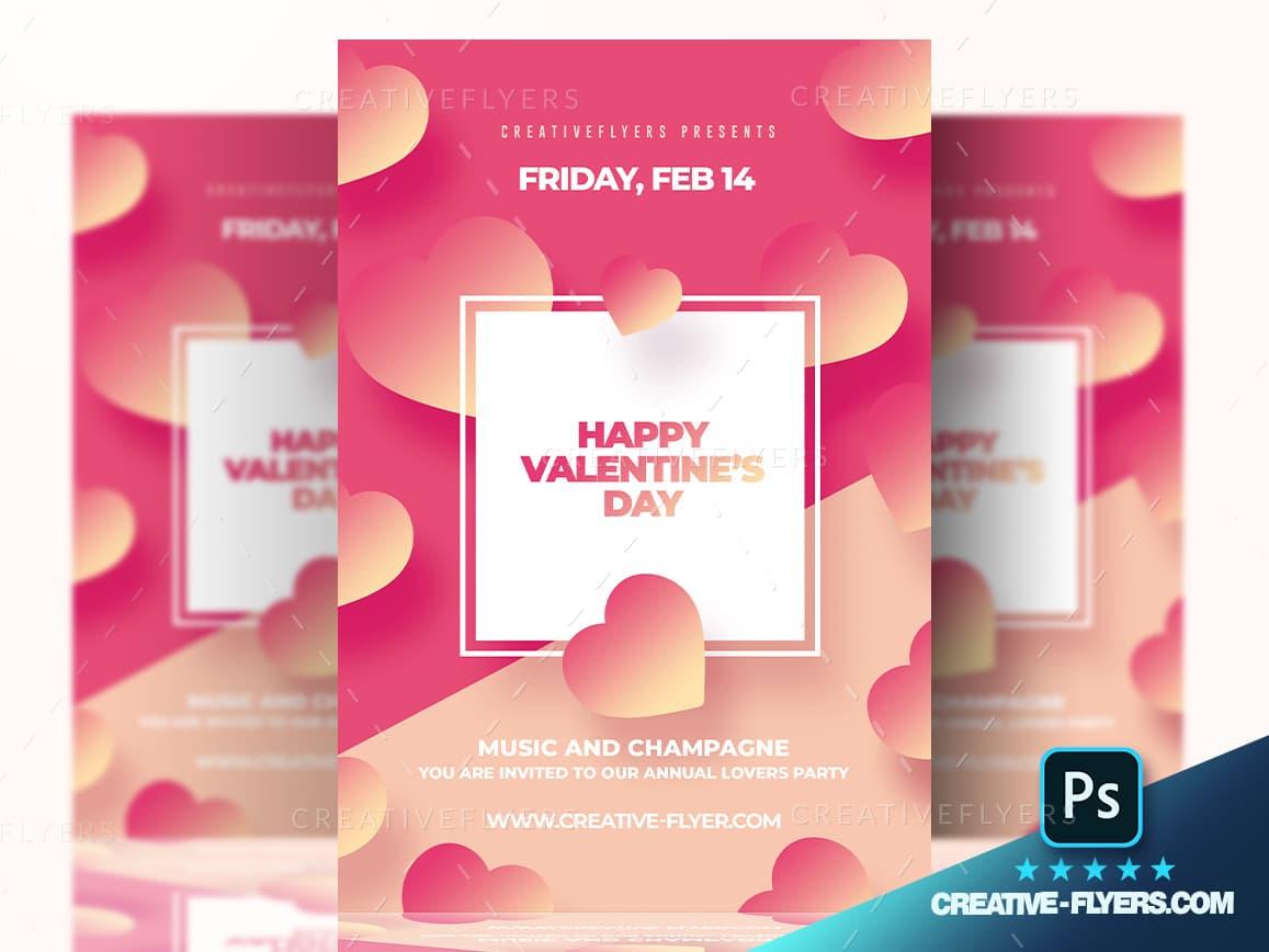 Valentine's Day Concept Flyer