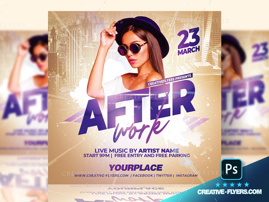 Afterwork Party Club Flyer