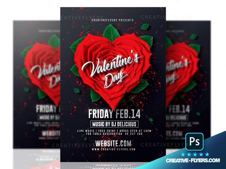 Valentine's day Celebrations Flyer Design