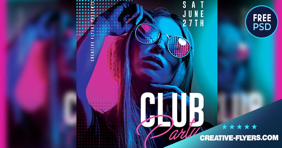 Free Night Club Flyer Template