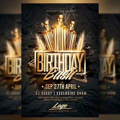 Birthday Bash Flyer Psd Template