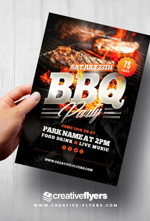 BBQ Flyer Psd Template