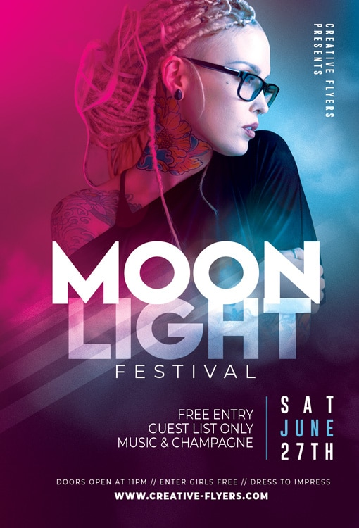Music Festival Flyer template