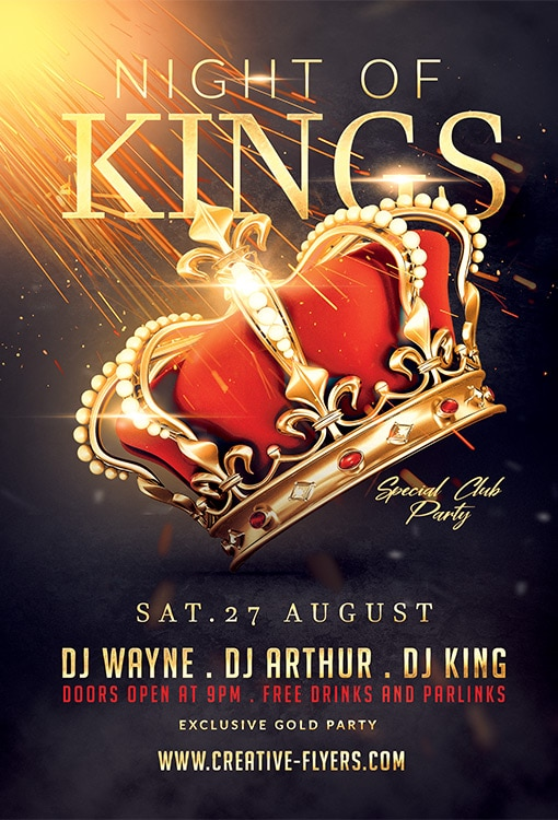 Night Of Kings Flyer Psd