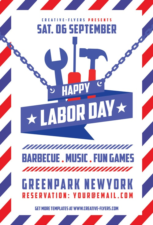 Happy Labor Day Flyer