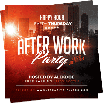 After Work Club Flyer