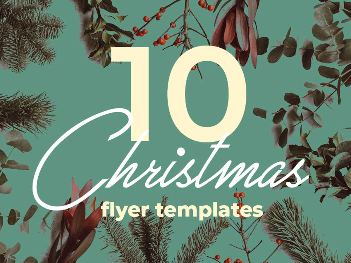 10 Christmas flyer templates