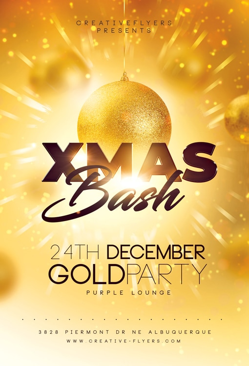 Gold Christmas Flyer Template