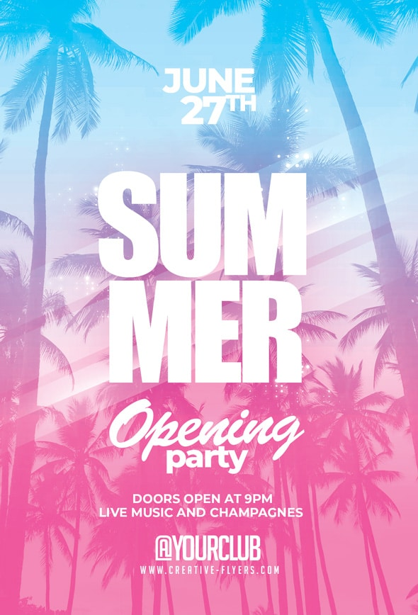 Summer Opening Party Flyer