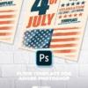 4th july Retro Flyer