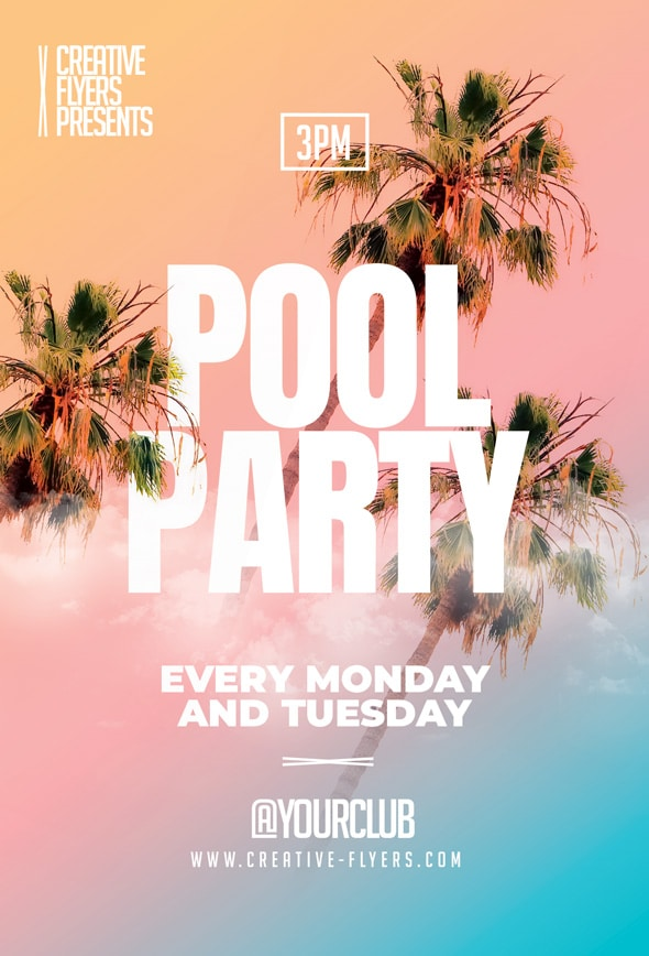 Summer Pool Party Flyer Template