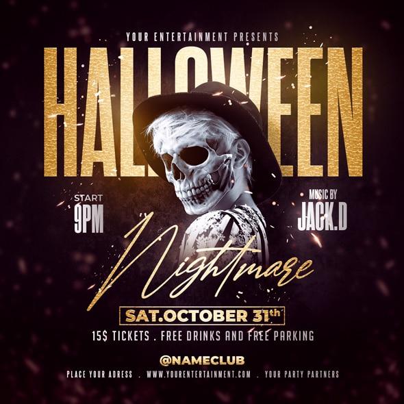 halloween Nightmare flyer